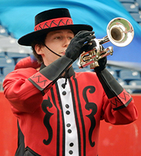 Muchachos soprano player at East Coast Classic - Gillette Stadium in Foxboro, MA - July 2, 2015