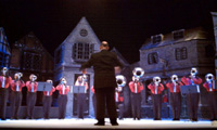 Muchachos hornline performing at the Palace Theatre