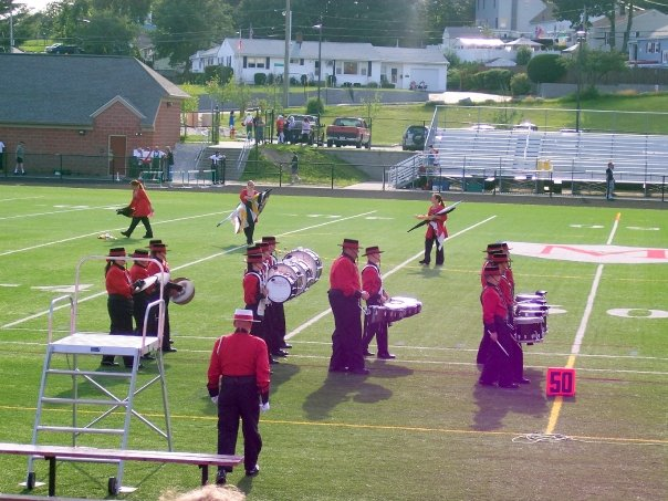 Leaving the field at Fiesta de Musica III DCI Show