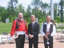 Keith Raiche, Gov. Lynch, Noel Taylor Memorial Day 2006